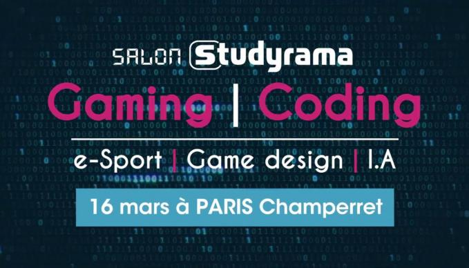 Salon du Gaming et Coding Studyrama SAE Paris
